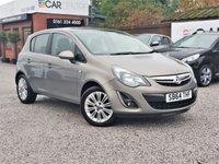 2014 VAUXHALL CORSA 1.4 SE 5d AUTO 98 BHP £4995.00