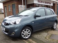 USED 2016 16 NISSAN MICRA 1.2 ACENTA 5d AUTO 79 BHP AUTOMATIC WITH SATELLITE NAVIGATION...BLUETOOTH...CLIMATE CONTROL