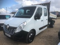 USED 2016 66 RENAULT MASTER 2.3 LL35 BUSINESS DCI L/R DCC TIPPER DRW 125 BHP DOUBLE CAB RWD TIPPER * ONLY 54000 MILES * ONE OWNER