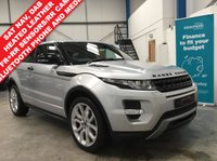"USED 2011 61 LAND ROVER RANGE ROVER EVOQUE 2.2 SD4 DYNAMIC 3d AUTO 190 BHP Heated Leather Memory Seats, Satellite Navigation, Bluetooth Phone and Media Streaming, Front and Rear Park Assist with Rear Camera, Meridian Sound System, Auto Lights and Wipers, Power Folding Mirrors, Heated Front Screen, Cruise Control with Speed Limiter, Dual Zone Climate, Voice Commands, DAB Radio, Paddle Shifters, 20"" Alloys"