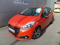 2016 PEUGEOT 208 1.2 PURETECH ACTIVE DESIGN MENTHOL 5 DOOR 82 BHP BLUETOOTH A/C £8295.00