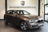 """USED 2012 62 BMW 1 SERIES 2.0 116D SPORT 5DR 114 BHP full service history Finished in a stunning sparkling metallic bronze styled with 17"""" alloys. Upon opening the drivers door you are presented with anthracite upholstery, full service history, bluetooth, cruise control, Sports seats, Fog lights, Sport Line, Additional 12V sockets, front armrest, parking sensors"""