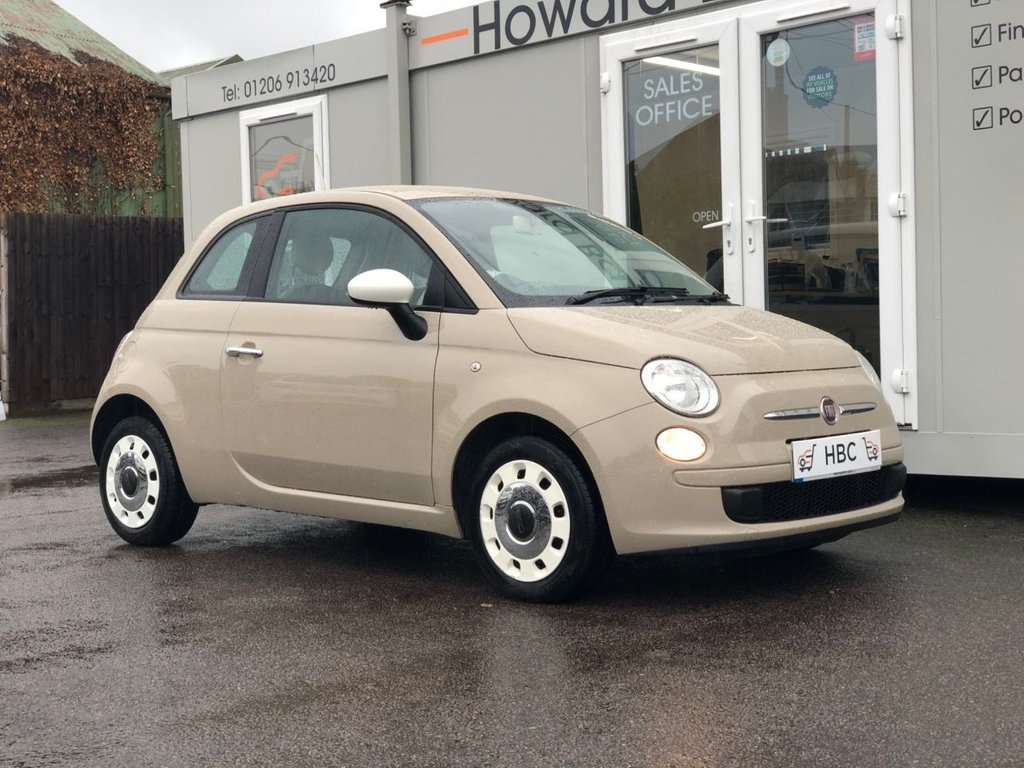 USED 2014 14 FIAT 500 1.2 COLOUR THERAPY 3d 69 BHP COFFEE LATTE FIAT