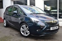 USED 2016 16 VAUXHALL ZAFIRA TOURER 1.4 SRI (LEATHER) TURBO 5d 138 BHP REAR ZAFRIA TOURER WITH FULL LEATHER INTERIOR