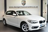 """USED 2016 66 BMW 1 SERIES 2.0 118D SE 5DR 147  BHP full service history Finished in a stunning alpine white styled with 16"""" alloys. Upon opening the drivers door you are presented with cloth upholstery, full service history, satellite navigation, bluetooth, dab radio, cruise control, Rain sensors, fog lights, Connected Drive Services, Automatic locking during starting, parking sensors"""