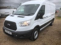 USED 2016 66 FORD TRANSIT 2.2 350 SHR P/V 124 BHP LWB MEDIUM ROOF * FWD * 55000 MILES ONE OWNER FROM NEW