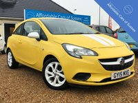 USED 2015 15 VAUXHALL CORSA 1.2 STING 3d 69 BHP Low Mileage Bright Yellow with White Alloys