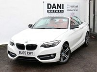 USED 2015 65 BMW 2 SERIES 2.0 220d Sport Auto (s/s) 2dr 1 OWNER*RED LEATHER**SATNAV