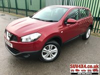 USED 2012 62 NISSAN QASHQAI 1.5 ACENTA DCI 5d 110 BHP MOT 10/20 RED MET WITH BLACK CLOTH TRIM. CRUISE CONTROL. 17 INCH ALLOYS. COLOUR CODED TRIMS. PRIVACY GLASS. PARKING SENSORS. BLUETOOTH PREP. CLIMATE CONTROL. R/CD PLAYER. MFSW. MOT 10/20. SUV4X4 USED CAR CENTRE LS23 7FQ TEL 01937 849492 OPTION 2
