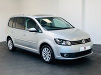 USED 2013 63 VOLKSWAGEN TOURAN 2.0 SPORT TDI BLUEMOTION TECHNOLOGY DSG 5d AUTO 138 BHP VERY LOW MILES + OPENING PAN ROOF + TOP SPEC SPORT MODEL