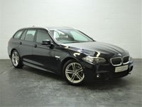 USED 2015 65 BMW 5 SERIES 2.0 520D M SPORT TOURING 5d AUTO 188 BHP 1 OWNER + FULL BMW HISTORY + FULL HEATED LEATHER + SAT NAV
