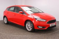USED 2016 16 FORD FOCUS 1.6 ZETEC 5DR AUTO 124 BHP FULL SERVICE HISTORY + PARKING SENSOR + BLUETOOTH + AIR CONDITIONING + DAB RADIO + MULTI FUNCTION WHEEL + RADIO/CD/AUX/USB + ELECTRIC WINDOWS + ELECTRIC MIRRORS + 16 INCH ALLOY WHEELS