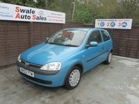 USED 2003 53 VAUXHALL CORSA 1.2 CLUB 16V 3d 75 BHP SEE FINANCE LINK FOR DETAILS