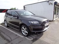USED 2012 12 AUDI Q7 3.0 TDI QUATTRO S LINE 5d AUTO 245 BHP 7 SEATS 7 Seater 4x4 Climate Control Leather Trim 20 Inc Alloys