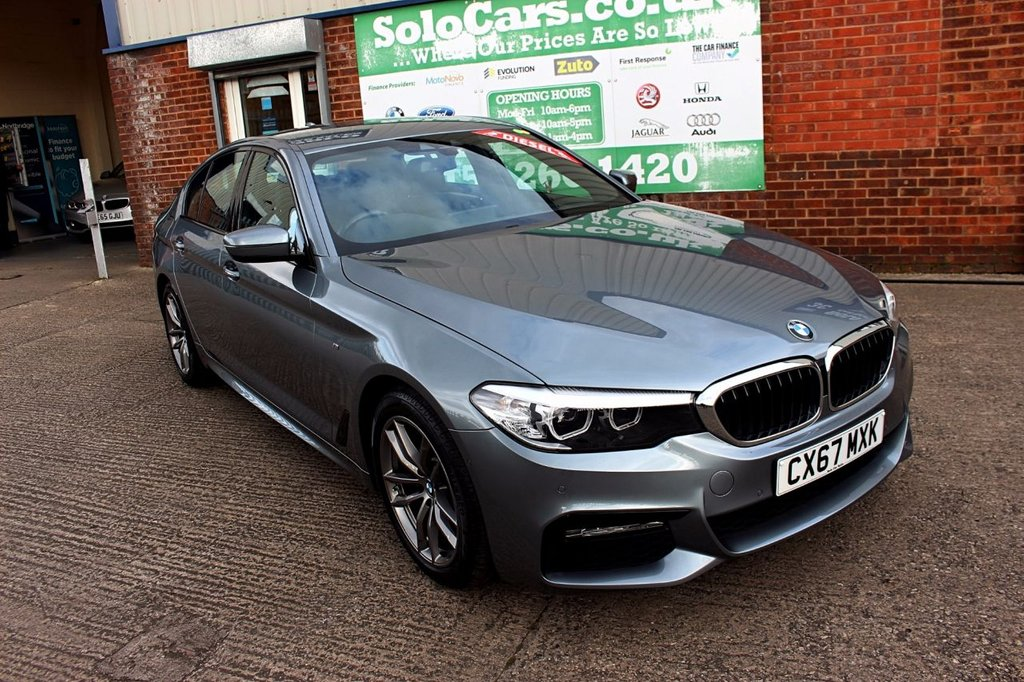 USED 2017 67 BMW 5 SERIES 2.0 520D M SPORT 4d AUTO 188 BHP +AUTOMATIC +ONE OWNER +FSH.