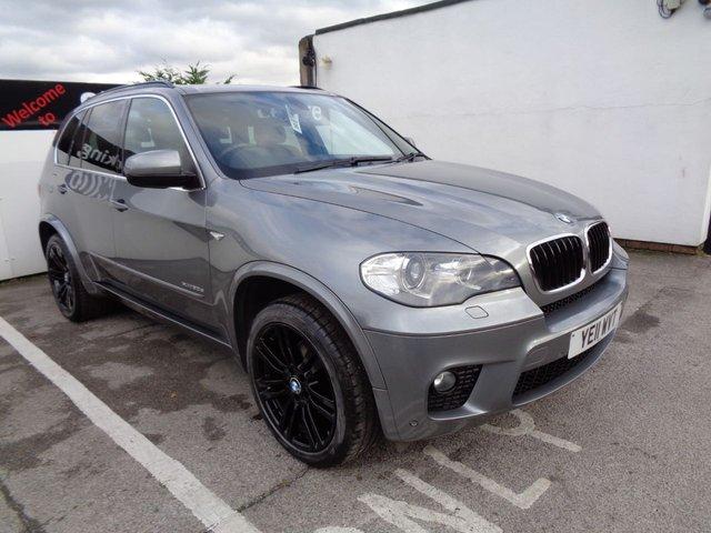 "USED 2011 11 BMW X5 3.0 XDRIVE30D M SPORT 5d AUTO 241 BHP AWD 4X4 4WD 7 SEATS 7 seats satellite navigation parking sensors privacy glass leather trim 20"" alloys."