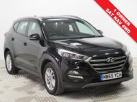 USED 2015 65 HYUNDAI TUCSON 2.0 CRDI SE NAV 5d AUTO 182 BHP Stunning Hyundai Tucson 2.0 CRDI SE NAV AUTO 4x4 AWD, having had just 1 Previous Owner, Full Hyundai Service History in Pearlescent Phantom Black. In addition comes with SAT NAV, Reversing Camera, Parking Sensors, Heated Seats, Bluetooth, Cruise Control, Road Sign Recognition, Electrically Folding Wing Mirrors, USB/AUX, DAB Radio , 2 Keys and the balance of Hyundai Warranty to October 2020. Euro 6, ULEZ Compliant. Nationwide Delivery Available. Finance Available at 9.9% APR representative.