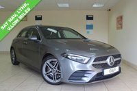 USED 2018 68 MERCEDES-BENZ A CLASS 2.0 A 250 AMG LINE PREMIUM PLUS 5d AUTO 222 BHP ARTICO LEATHER, ADVANCED NAVIGATION PACKAGE, TRAFFIC SIGN ASSIST, PREMIUM PLUS PACKAGE, MIRROR PACKAGE, ACTIVE PARKING ASSIST WITH PARKTRONIC, ELECTRIC FRONT SEATS WITH LUMBAR, PANORAMIC SLIDING SUNROOF, ELECTRIC FOLDING MIRRORS, HEATED FRONT SEATS, KEYLESS, PARKING PACKAGE, REVERSING CAMERA, HUGE SPEC TOTALLY AWESOME CAR AND LOW MILEAGE