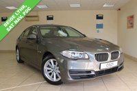 USED 2013 63 BMW 5 SERIES 2.0 520D SE 4d AUTO 181 BHP BEIGE VENETIAN DAKOTA LEATHER, SATELLITE NAVIGATION, CLIMATE CONTROL, HIGH GLOSS INTERIOR TRIM, PARKTRONIC, HEATED FRONT SEATS, HANDS FREE WITH USB, LOW MILEAGE