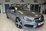 USED 2013 MERCEDES-BENZ A CLASS 2.0 A250 BLUEEFFICIENCY ENGINEERED BY AMG 5d AUTO 211 BHP + FULL MERCEDES SERVICE HISTORY + SATELLITE NAVIGATION + PANORAMIC SLIDING SUNROOF + BI-XENON HEADLIGHTS + HEATED FRONT SPORTS SEATS + AMG STYLING PACKAGE + AMG SPORTS PACKAGE + SEAT COMFORT PACKAGE + PRIVACY GLASS + AIR CONDITIONING + CRUISE CONTROL + ATTENTION ASSIST + SPORTS SUSPENSION + MULTIFUNCTION STEERING WHEEL WITH PADDLE SHIFT + 7-SPEED AUTOMATIC DUAL CLUTCH TRANSMISSION + 18 INCH AMG 5 SPOKE ALLOY WHEELS