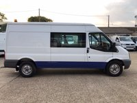 USED 2014 14 FORD TRANSIT 2.2 350 LWB MED ROOF DOUBLE CAB 100 BHP