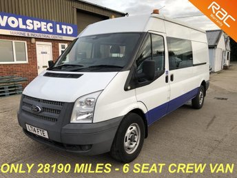 2014 FORD TRANSIT 2.2 350 LWB MED ROOF DOUBLE CAB 100 BHP £8000.00