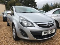 USED 2012 12 VAUXHALL CORSA 1.2 SXI AC 5d 83 BHP SPORTY MODEL BUT LOW INSURANCE:
