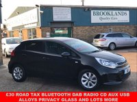 USED 2016 16 KIA RIO 1.2 SR7 5 Door Midnight Black only 33851 miles Kia Warranty 83 BHP £30 Road Tax Bluetooth DAB Radio CD AUX USB Alloys Privacy Glass and lots more