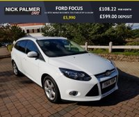 USED 2014 14 FORD FOCUS 1.6 ZETEC NAVIGATOR ECONETIC TDCI START/STOP 5d 104 BHP ZERO ROAD TAX