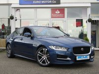 "USED 2015 65 JAGUAR XE 2.0 R-SPORT 4d 178 BHP Stunning 1 owner Jaguar XE R-sport in Caesium Blue meatallic with contrasting two tone leather seats, This is a fantastic family saloon car thats smart inside and sporty to drive. This is Jaguar elegance at its finest and together with its punchy 178 BHP delivery and only £20 Road tax you just couldnt ask for more. Features include Full Heated two tone Leather seats, Sat Nav, DAB, 18"" Alloys, Rear View Camera and only £20 Road Tax, Dea;er serviced at, 0 miles PDI, 21769 MILES, 39711 MILES, 60228"