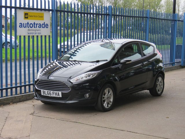 USED 2016 66 FORD FIESTA 1.2 ZETEC 3d 81 BHP Low Miles,Service History