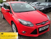 USED 2014 14 FORD FOCUS 1.6 TITANIUM NAVIGATOR TDCI 5d 113 BHP FORD SERVICE HISTORY TWO TONE CHARCOAL TRIM
