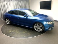 USED 2009 59 AUDI A5 2.0 SPORTBACK TDI S LINE 5d 168 BHP FREE UK DELIVERY, AIR CONDITIONING, BANG & OLFUSEN SOUND SYSTEM, CLIMATE CONTROL, CRUISE CONTROL, ELECTRONIC PARKING BRAKE, HEATED SEATS, SATELLITE NAVIGATION, STEERING WHEEL CONTROLS, TRIP COMPUTER