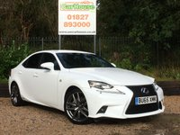 USED 2015 65 LEXUS IS 2.5 300H F SPORT 4dr AUTO Stunning Example, Great Spec, £20 Tax