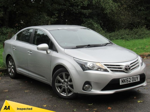 USED 2012 62 TOYOTA AVENSIS 2.2 T4 D-4D 4d 150 BHP FULL SCREEN SATELLITE NAVIGATION