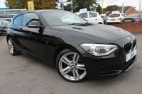 USED 2014 64 BMW 1 SERIES 1.6 118I M SPORT 3d AUTO 168 BHP 3 BMW SERVICE STAMPS - 2 FORMER KEEPERS - MEGA SPECIFICATION