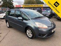 2009 CITROEN C4 GRAND PICASSO 1.6 VTR PLUS HDI 5d 107 BHP  IN METALLIC GREY WITH 85500 MILES, GREAT SERVICE HISTORY, 2 OWNERS AND 7 SEATS £2999.00