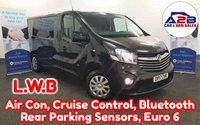 2017 VAUXHALL VIVARO 1.6 CDTi 2900 SPORTIVE 120 BHP Euro 6 LONG WHEEL BASE in Black with Air Conditioning, Cruise Control, Bluetooth, Rear Parking Sensors, Ply Lining and more £11980.00