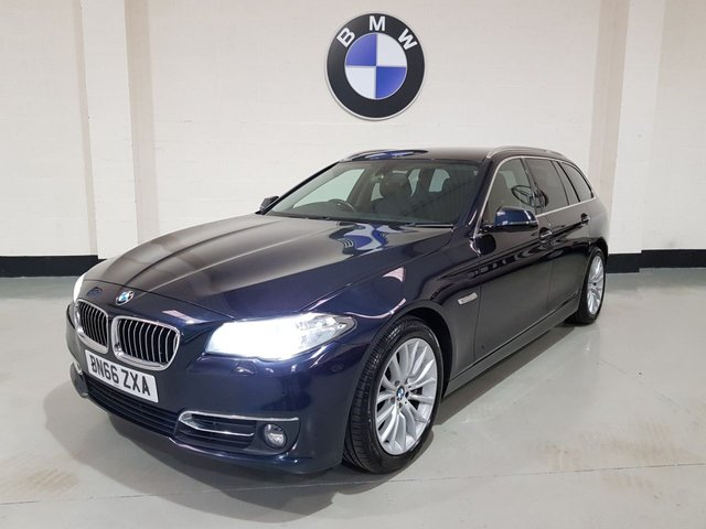 USED 2016 66 BMW 5 SERIES 2.0 525D LUXURY TOURING 5d AUTO 215 BHP 1 Owner/Pro-Nav/Heated Leather/Power Boot/Park Sensors