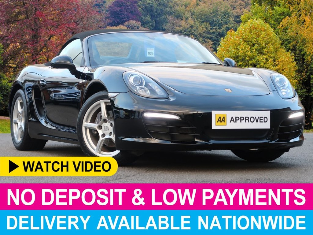 USED 2014 14 PORSCHE BOXSTER 2.7 24V 981 ROADSTER CONVERTIBLE 2DR SAT NAV LEATHER LOW MILES