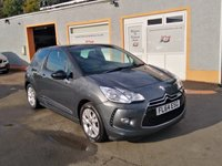 """USED 2014 64 CITROEN DS3 1.6 E-HDI DSTYLE 3d 90 BHP Bluetooth, 16"""" Alloys, Air Conditioning, 3 Service Stamps"""