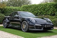 """USED 2014 64 PORSCHE 911 3.8 TURBO S PDK 2d AUTO 560 BHP A Stunning Example of The Legendary Supercar and The Ultimate Daily Driver. Features Sports Chrono Pack, 20"""" Turbo S Alloy Wheels with Yellow Callipers & Ceramic Brakes, Panoramic Sunroof, Full Black Leather Interior with Carbon Fibre Trim, Adaptive Sport Seats with Porsche Crest, Burmester Surround Sound System, Bluetooth Connectivity, Front & Rear Parking Sensors with Reversing Cam. Alcantara Multi Function Sports Steering Wheel, Digital Climate Control, PCM Satellite Navigation,"""