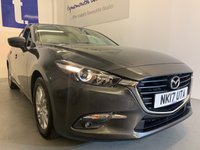 USED 2017 17 MAZDA 3 2.0 SE-L NAV 5d 118 BHP Marvelous Mazda 3 2.0 SE-L 5 Door In Very Smart Machine Grey Metallic Only 1 Owner From New With Just 30,300 miles And A Full Mazda Service History,