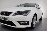 USED 2014 14 SEAT LEON 1.4 TSI FR TECHNOLOGY 3d 150 BHP 2 OWNERS with 6 Stamp SERVICE HISTORY