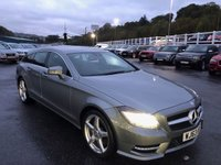 USED 2013 63 MERCEDES-BENZ CLS CLASS 3.0 CLS350 CDI BLUEEFFICIENCY AMG SPORT 5d 262 BHP Silver Grey with Black leather, reversing camera, COMAND, 19 inch ++
