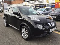 USED 2014 64 NISSAN JUKE 1.5 ACENTA PREMIUM DCI 5d 110 BHP 2014 NISSAN JUKE WITH FULL SERVICE HISTORY AND SAT NAV !!