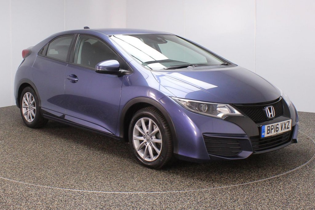USED 2016 16 HONDA CIVIC 1.6 I-DTEC S NAVI 5DR SAT NAV 1 OWNER 118 BHP FULL SERVICE HISTORY + FREE 12 MONTHS ROAD TAX + PARKING SENSOR + SATELLITE NAVIGATION + BLUETOOTH + CLIMATE CONTROL + MULTI FUNCTION WHEEL + DAB RADIO + XENON HEADLIGHST + ELECTRIC WINDOWS + RADIO/CD/USB + ELECTRIC MIRRORS + 16 INCH ALLOY WHEELS