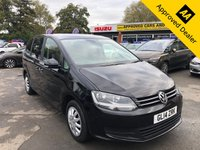 2014 VOLKSWAGEN SHARAN 2.0 S TDI DSG 5d AUTO 142 BHP IN BLACK WITH 97000 MILES, GREAT SPEC AND SERVICE HISTORY WITH 7 SEATS AND ITS AUTOMATIC.  £7999.00
