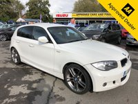 2011 BMW 1 SERIES 2.0 116D PERFORMANCE EDITION 5d 114 BHP IN WHITE WITH  60000 MILES, FULL SERVICE HISTORY AND A GREAT SPEC £5999.00