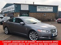 "USED 2009 09 JAGUAR XF 3.0 V6 S LUXURY LUNAR GREY METALLIC BLACK LEATHER 275 BHP Luxury Jaguar XF V6 Diesel with Massive Spec Inc Leather Seats 19"" Alloys NAV Rev Camera & much more"